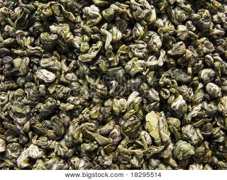 Green tea named Green Monkey - dry leaves