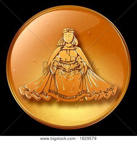 Virgo Zodiac Button Icon