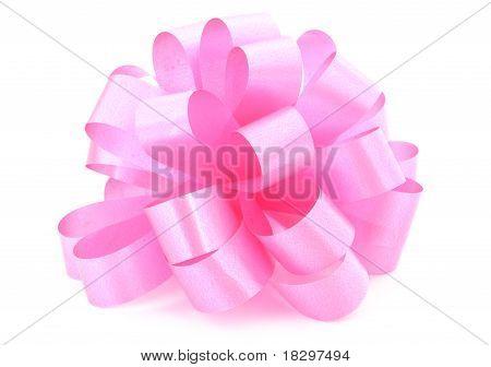 single pink ribbon gift