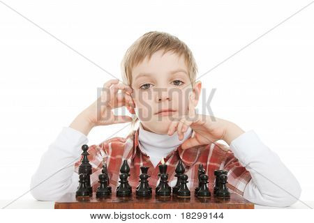 boy thinking on next move