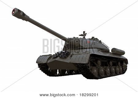 World War Two Legendary Guards Soviet Heavy Tank Is3 Iosif Stalin Isolated Over White Background