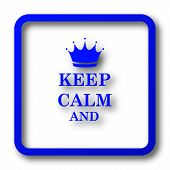 Keep Calm Icon poster