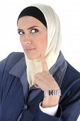 Muslim beauty woman thinking
