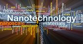 stock photo of nanotube  - Background concept wordcloud illustration of nanotechnology glowing light - JPG