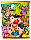 picture of cartoon character  - a digitally illustrated cute and funny cartoons - JPG