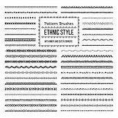 Ethnic Style Pattern Brushes Set poster