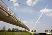 image of calatrava  - One of three Calatrava bridges in Hoofddorp - JPG