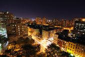 pic of new york night  - Nightscape of Lower Manhattan from atop a building - JPG