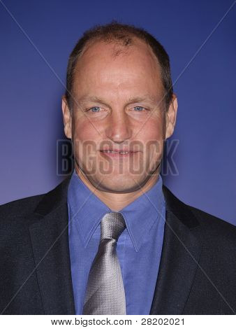LOS ANGELES - DEC 14:  Woody Harrelson announcing the Golden Globe Awards 2012 Nominations  on December 14, 2011 in Beverly Hills, CA.