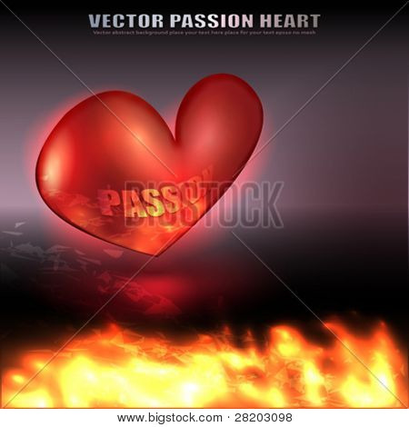 Vector Fire and Valentine's Heart with no mesh