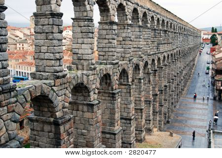 The Wall In Segovia Spain