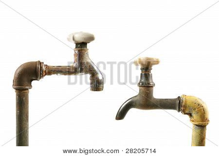 Two Rusty Water Taps