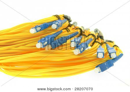 cable de fibra óptica de la red