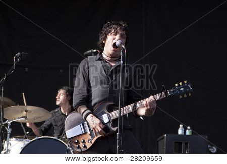 CLARK, NJ - SEPTEMBER 11: Frontman / Guitarist Jesse Malin performs at the Union County Music Fest on September 11, 2010 in Clark, NJ.