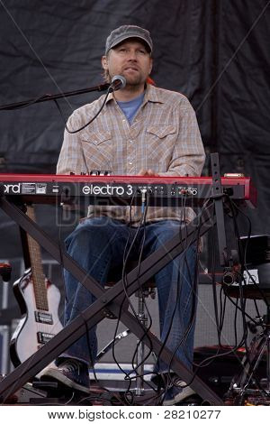 CLARK, NJ - SEPTEMBER 17: Jonathan Kingham plays keyboards for the band Toad The Wet Sprocket at the Union County Music Fest on September 17, 2011 in Clark, NJ.