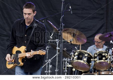 CLARK, NJ - SEPTEMBER 17: Singer Glen Phillips and drummer Randy Guss of the band Toad The Wet Sprocket perform at the Union County Music Fest on September 17, 2011 in Clark, NJ.