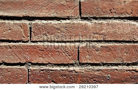 Textured Image Of Brick Wall. Good As Backdrop Or Background.