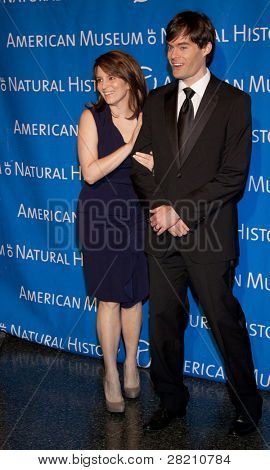 NEW YORK - NOV 10: Tina Fey and Bill Hader attend the American Museum of Natural History's  2011 Gala on November 10, 2011 in New York City, NY.