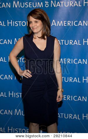 NEW YORK - NOV 10: Tina Fey, of the NBC comedy '30 Rock', attends the American Museum of Natural History's  2011 Gala on November 10, 2011 in New York City, NY.