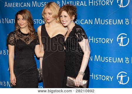 NEW YORK - NOV 10: Saturday Night Live cast members Nasim Pedrad, Abby Elliott, and Vanessa Bayer attend the American Museum of Natural History's  2011 Gala on November 10, 2011 in New York City, NY.