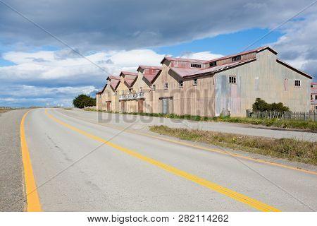 poster of San Gregorio Townscape, Punta Delgada, Chile Landmark. Estancia San Gregorio. Abandoned Buildings