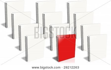 Many Ring Binder, Only One Red