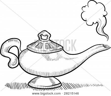 Aladdin genie lamp coloring page coloring pages for Genie lamp coloring page