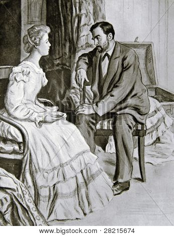 Rendezvous - Illustration by M. Shcheglov,