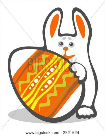 Conejo y huevo de Pascua