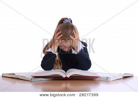 Girl Was Declined Above The Book