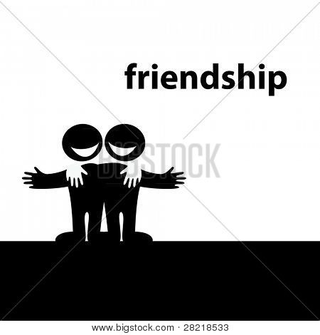 Symbol of friendship. Best friends. Vector illustration.