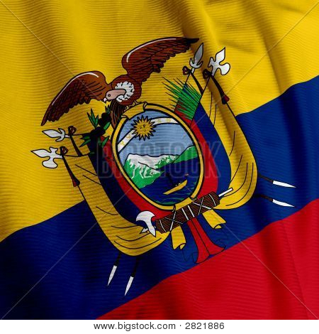 Ecuadorian Flag Closeup