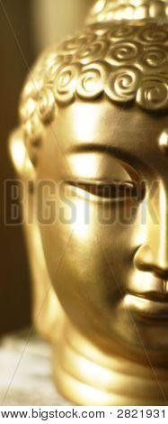 Half Of Buddha'S Head.