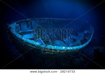 Life boat of Salem Express shipwreck