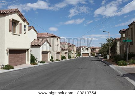 New tightly packed single family homes in Las Vegas, Nevada.