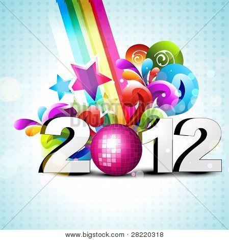 vector funky coloridos feliz ano novo vetor design