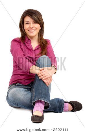 Casual mujer sonriendo