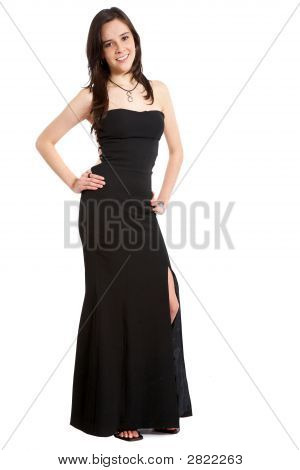 Elegant Woman In Black