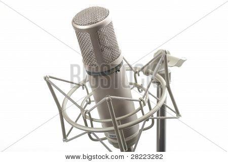 Studio Microphone On Stand