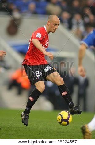 BARCELONA - JAN 24: Borja Valero of Mallorca during the Spanish League match against Espanyol at the Estadi Cornella on January 24, 2010 in Barcelona, Spain
