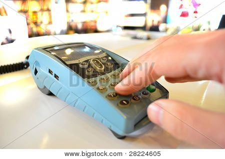 POS Payment In A Shop