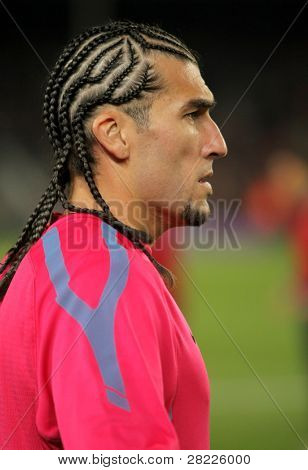 BARCELONA - OCT 30: Jose Manuel Pinto of FC Barcelona before spanish league match between FC Barcelona and Sevilla FC at Nou Camp Stadium on October 30, 2010 in Barcelona, Spain