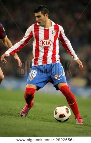 BARCELONA 5 FEB: Reyes of Atletico de Madrid during the match between FC Barcelona and Atletico Madrid at the Nou Camp Stadium on February 5, 2011 in Barcelona, Spain