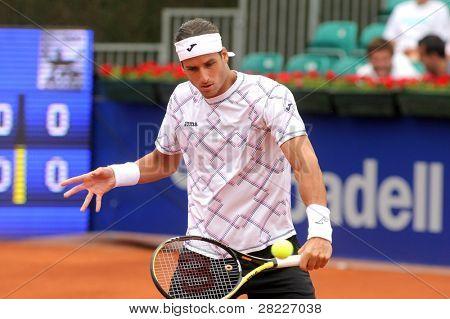 19. April Barcelona: spanischer Tennisspieler Spieler Feliciano Lopez während sein Spiel gegen kukuschkin die BA