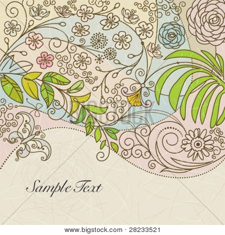 Spring floral background.
