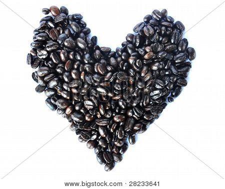 Love Shape Of Coffee Beans