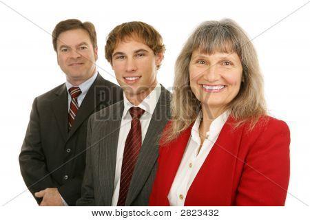 Frau führte Business Team