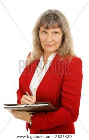 Serious Female Executive