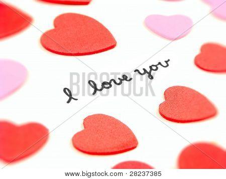 Hand written I Love You message