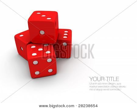 Stack Of Red And White Dice